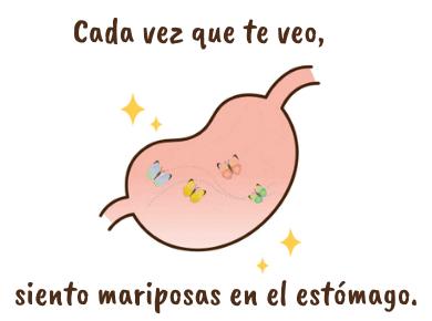 スペイン語の表現『おなかの中で蝶が舞う』恋愛できゅんきゅん!