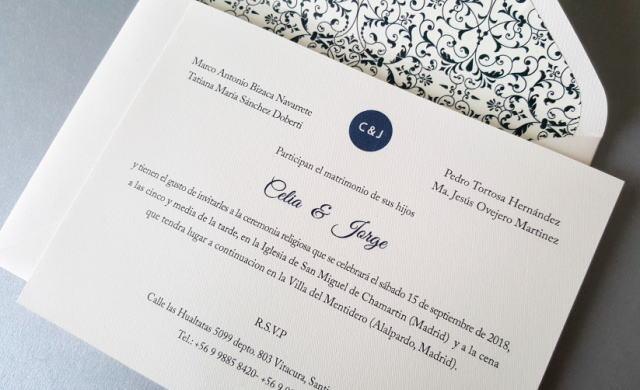 スペイン語の結婚式の招待状の書き方