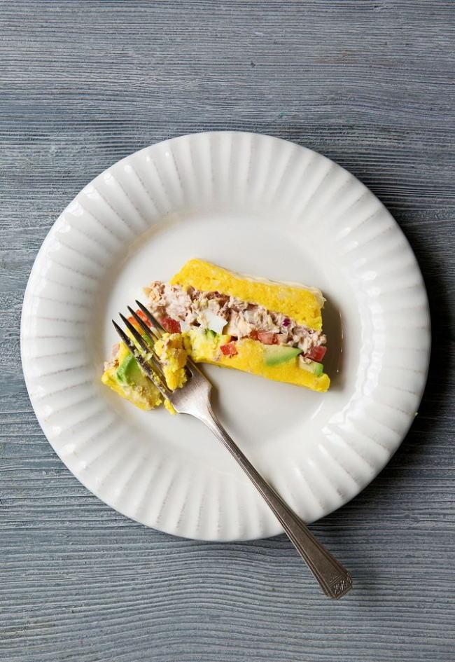 Pastel de patata y atún