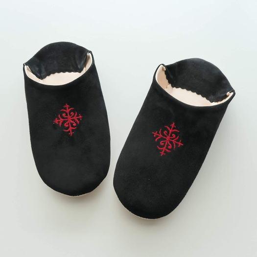 [cocomorocco] バブーシュ モロッコ (スエードレザー刺繍