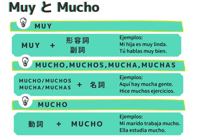 スペイン語のMuyとMuchoの使い方